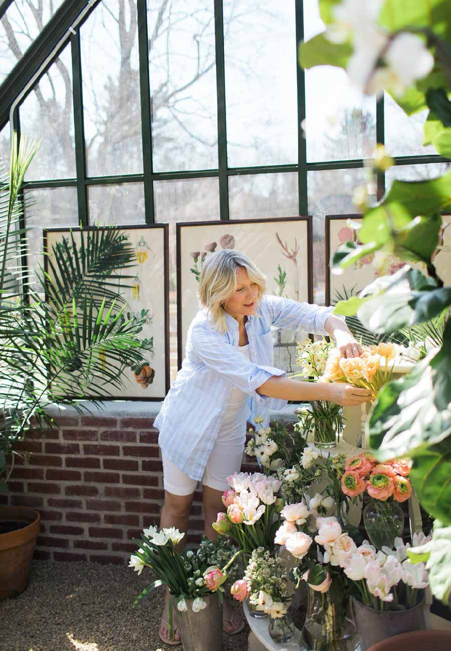 Bethany at work in greenhouse